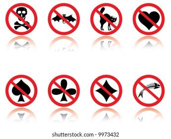 Symbols - jokes. Vector illustration.