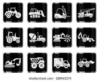 Symbols of Transportation & Construction Machine
