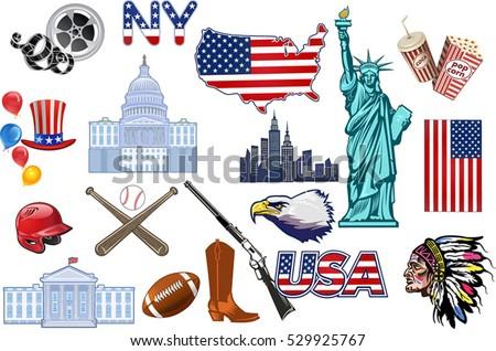symbols usa stock vector royalty free 529925767 shutterstock