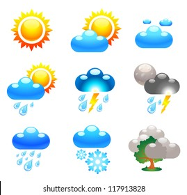 Symbols which represent weather conditions