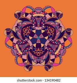 symmetrical pattern based on hand drawn geometric elements