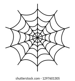 Symmetrical spider web icon. Outline symmetrical spider web vector icon for web design isolated on white background