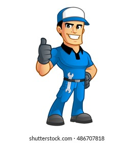 Sympathetic car mechanic, he has a spanner in his belt