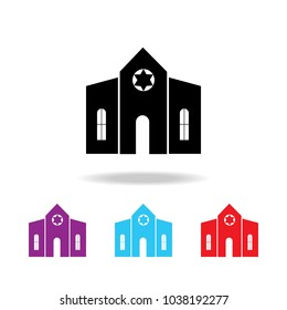 Synagogue building icon. Elements of  building in multi colored icons for mobile concept and web apps. Icons for website design and development, app development on white background