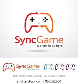Sync Game Logo Template Design Vector