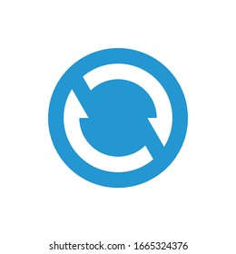 sync icon blue color design vector