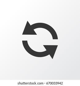 Sync Icon Symbol. Premium Quality Isolated Sync Synchronize Circle Icon Element In Trendy Style.