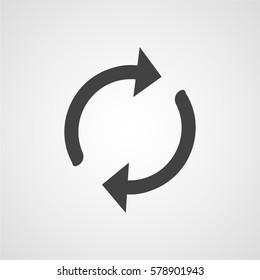 Sync vector icon or loading symbol