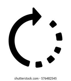 Synchronization Arrows Vector Icon