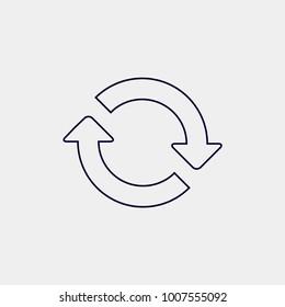 synchronize icon, Vector illustration. spin arrow sign