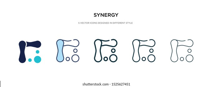 synergy icon in different style vector illustration. two colored and black synergy vector icons designed in filled, outline, line and stroke style can be used for web, mobile, ui