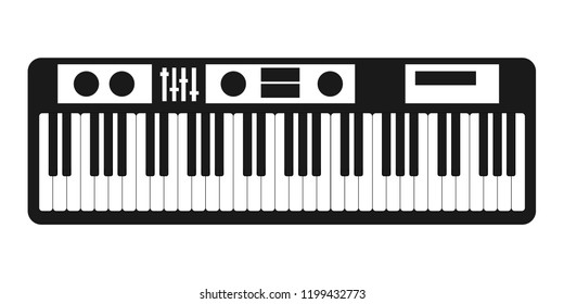 Synthesizer icon vector isolated on white background for your web and mobile app design, Synthesizer logo concept