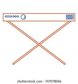 synthesizer instrument isolated icon