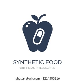 Synthetic food icon. Trendy flat vector Synthetic food icon on white background from Artificial Intelligence, Future Technology collection, vector illustration can be use for web and mobile, eps10