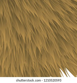 synthetic fur vector texture. brown shaggy animal skin imitation, furry background.