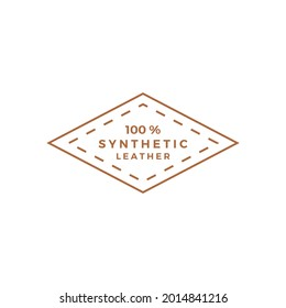 synthetic leather logo vector icon illustration
