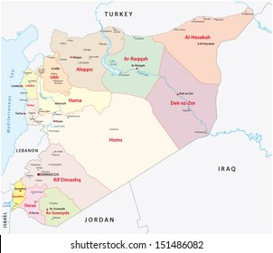 Syria map images stock photos vectors shutterstock syria administrative map gumiabroncs Images