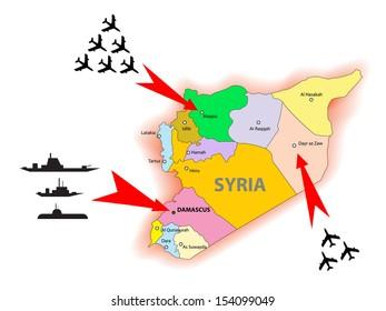 Syria conflict illustration