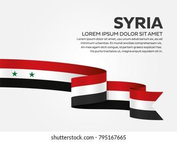 Syria flag background