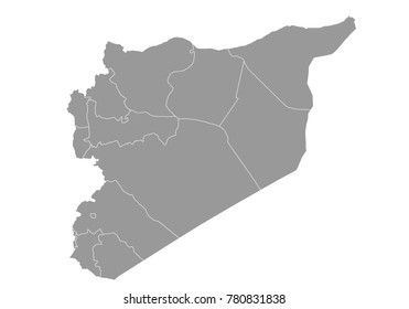 Syria Map Blue Color Stock Vector 577224004 Shutterstock