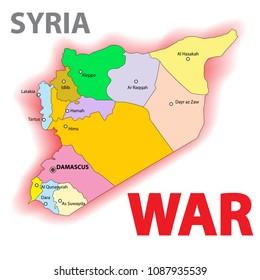 Syria war illustration