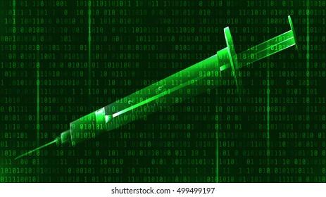 syringe illusion dot matrix background