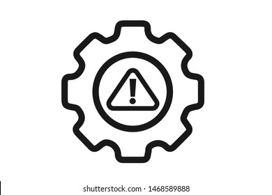 System error icon vector, system not working sign