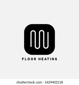 System of heating icon.floor Heating system icon
