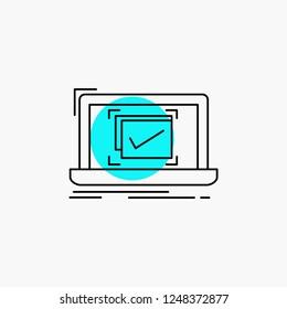 system, monitoring, checklist, Good, OK Line Icon
