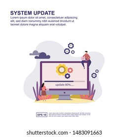 System update concept vector illustration flat design for presentation, social media promotion, banner, and more