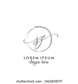 SZ Initial beauty monogram logo vector
