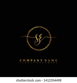 SZ Initial luxury handwriting logo vector