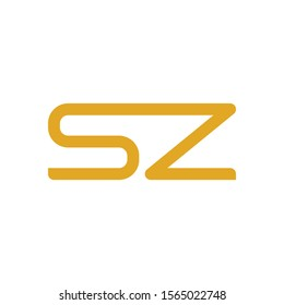 SZ letter logo template vector icon design