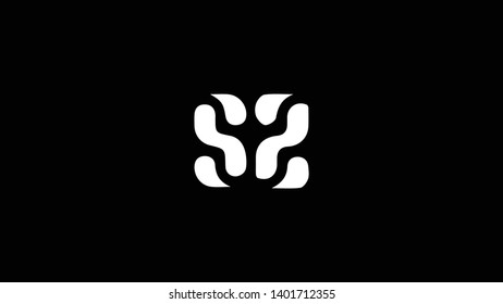 SZ logo design template vector minimal design