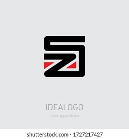 SZ - Vector design element or icon. Initials, monogram or logotype. S and Z logo.