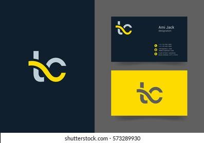 T & C Letter logo design vector element