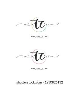 T C TC Initial logo template vector