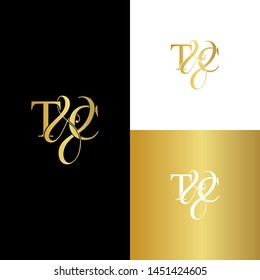 T & C / TC logo initial vector mark. Initial letter T and C TC logo luxury vector logo template.