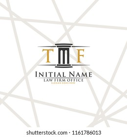 T F Initial law firm logo vector template