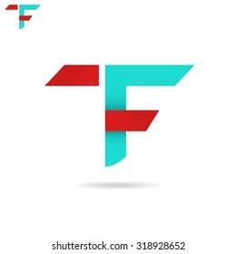 T and F letter icon, t f logo concept, 2d vector isolated on white background, eps 8