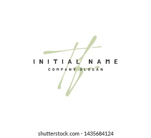 T F TF Beauty vector initial logo, handwriting logo of initial signature, wedding, fashion, jewerly, boutique, floral and botanical with creative template for any company or business.