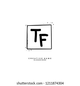 T F TF Initial abstract logo concept vector