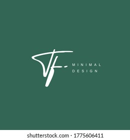 T F TF Initial handwriting or handwritten logo for identity. Logo with hand drawn style.