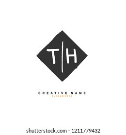 T H TH Initial abstract logo concept vector