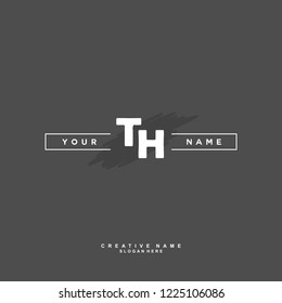 T H TH Initial logo template vector
