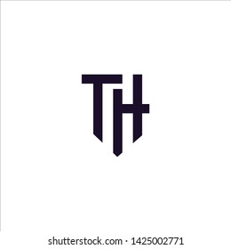 T H TH Initial logo template
