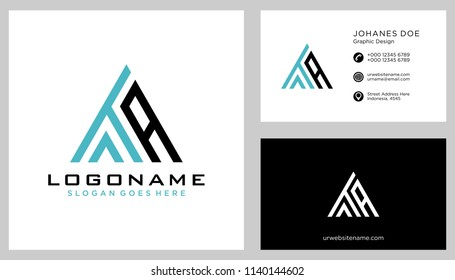 T A initial logo template vector