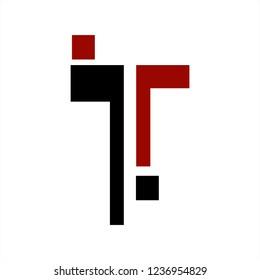 T, jT, jTr, jTj initials letter company logo
