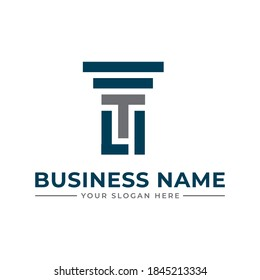 t and l letter law firm logo. Law Firm logo and icon design template-vector. column Logo Template. column Logo vector. Universal legal, lawyer, scales sword column idea creative