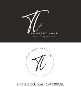 T L TL Initial letter handwriting and signature logo.